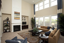 Living Room with fresh paint in Livermore, California